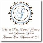 Name Doodles - Square Address Labels/Stickers (Woodbury Brown)